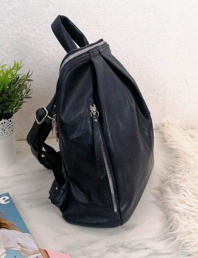 Γυναικείο μπλε οβαλ Backpack δερματίνη 825825M