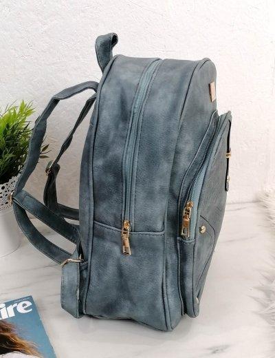Γυναικείο γαλάζιο Backpack δερματίνη 66177G