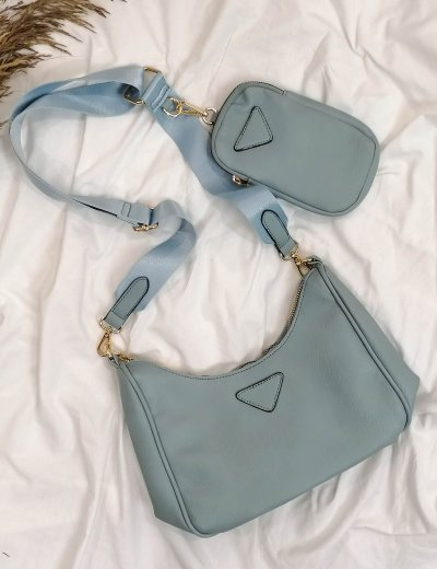 Γυναικείο γαλάζια τσάντακι δερματίνη 11231C