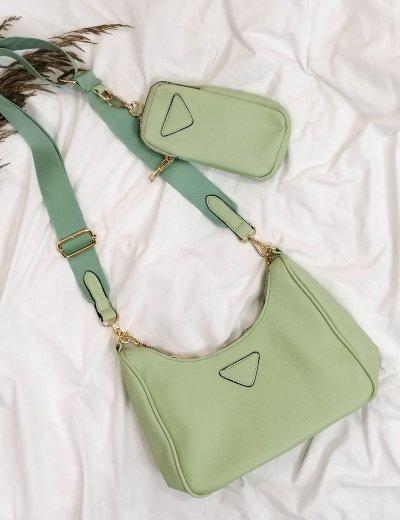 Γυναικείο φιστικί τσάντακι δερματίνη 11231B