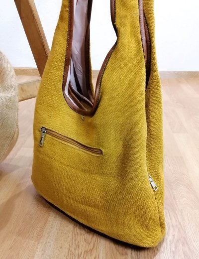 Γυναικεία ώχρα πικέ τσάντα ώμου 105660C