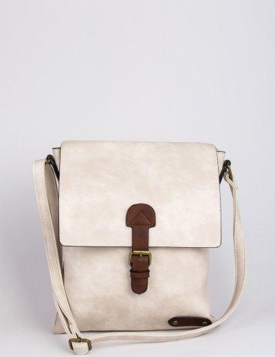 Γυναικεία εκρού τσάντα δερματίνη ταχυδρόμου 9340111Q
