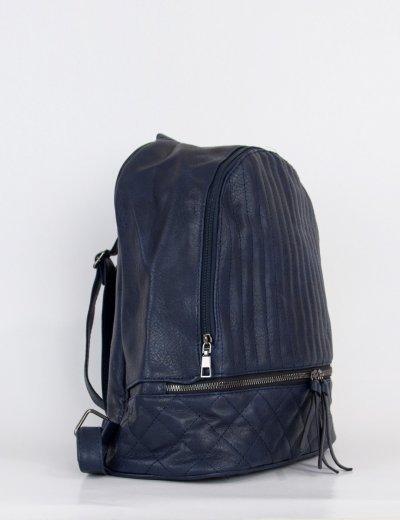 Γυναικείο μπλε σακίδιο πλάτης δερματίνη 00880