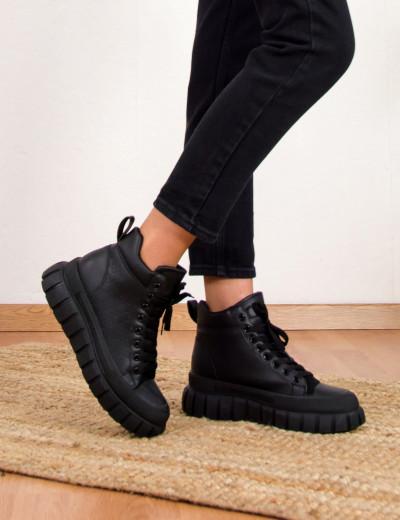 Γυναικεία μαύρα αρβυλάκια με σχέδιο 654121