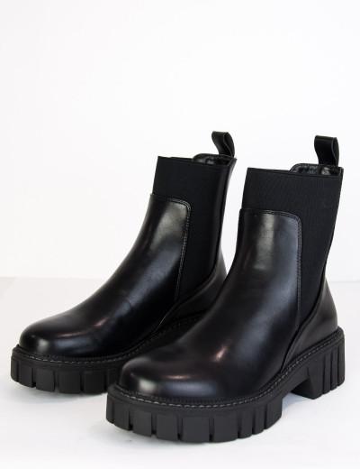 Γυναικεία μαύρα αρβυλάκια με λάστιχο 61665