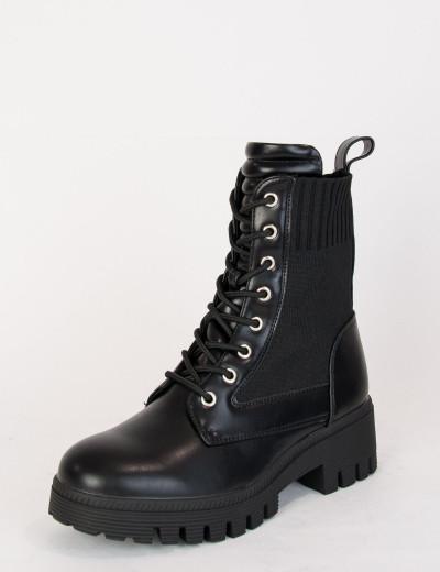 Γυναικεία μαύρα αρβυλάκια κάλτσα BM555
