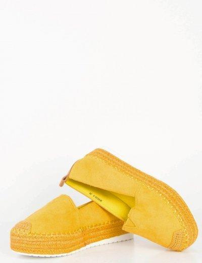 Γυναικείες κίτρινες εσπαντρίγιες ψάθινη σόλα W9930