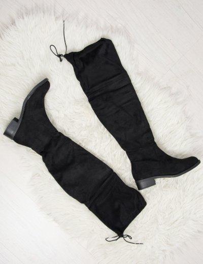 Γυναικείες μπότες πάνω απο το γόνατο μαύρες JL50
