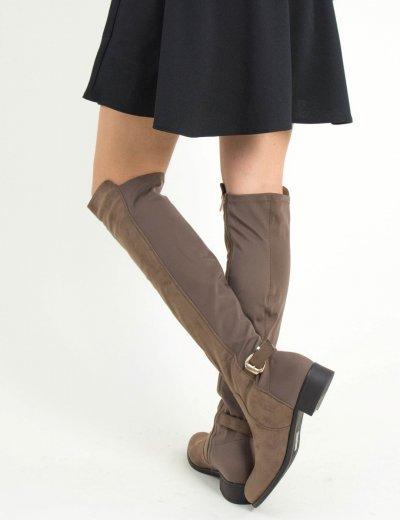 Γυναικείες πούρο σουέντ μπότες ιππασίας ελαστικές LY563