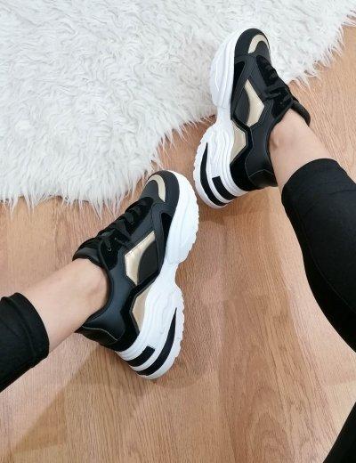 Γυναικεία μαύρα δίσολα Sneakers PC56Υ