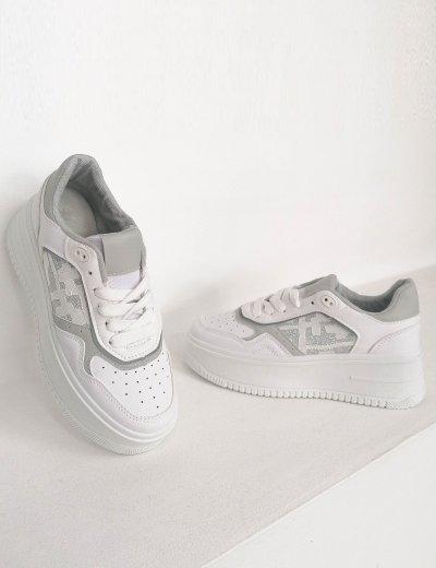 Γυναικεία λευκά δίσολα Casual Sneakers 202320