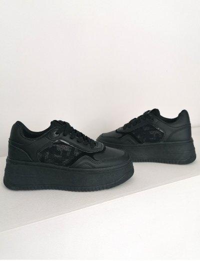 Γυναικεία μαύρα δίσολα Casual Sneakers 202320S
