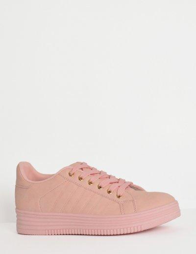 Γυναικεία Sneakers μονόχρωμα ροζ 723720C