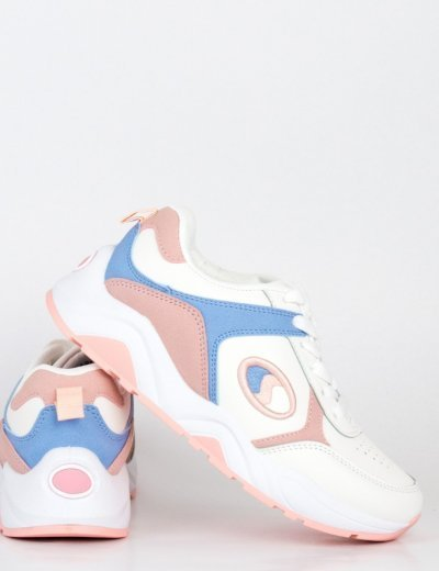 Γυναικεία ροζ Casual Sneakers με κορδόνια BO186
