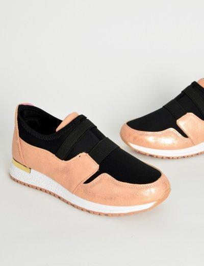 Γυναικεία Sneakers κάλτσα ροζ με λάστιχο KB060C