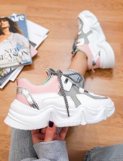 Γυναικεία τρίχρωμα δίσολα Sneakers VIVI055