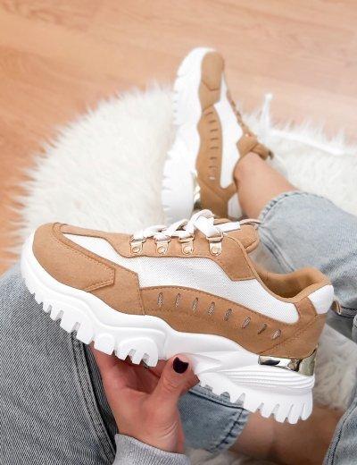 Γυναικεία καφέ δίσολα Sneakers 531153