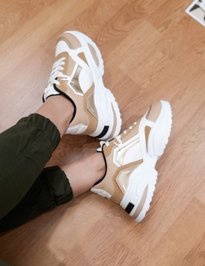 Γυναικεία κάμελ δίσολα Sneakers PC56