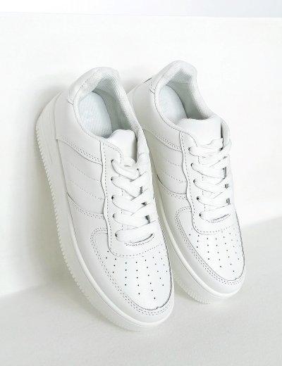Γυναικεία λευκά δίσολα Casual Sneakers BO599