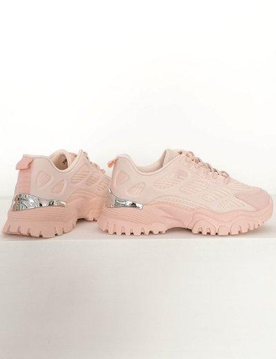 Γυναικεία ροζ αθλητικά δίσολα Sneakers με σχέδια 5310R
