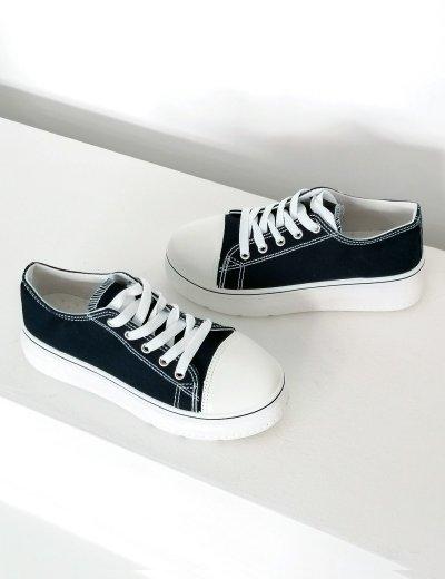 Γυναικεία μπλε δίσολα  πάνινα Sneakers 2021165C