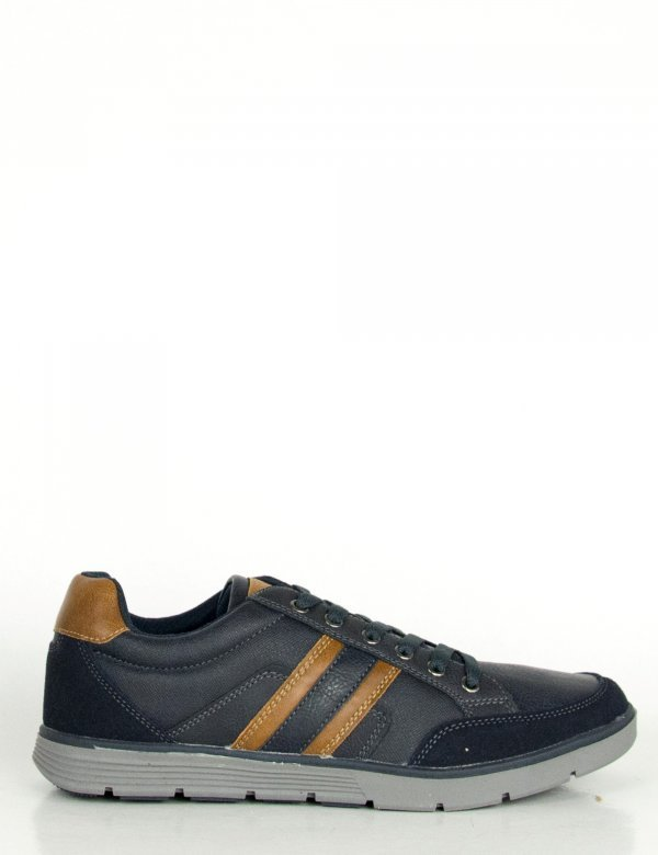 Ανδρικά μπλε Casual παπούτσια κορδόνια διχρωμία R86251F