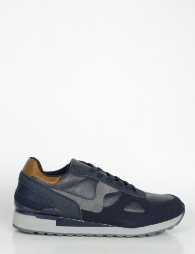 Ανδρικά μπλε Sneakers με κορδόνια διχρωμία R86527