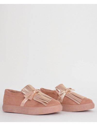 Γυναικεία Slip On με κρόσια ροζ AM602R